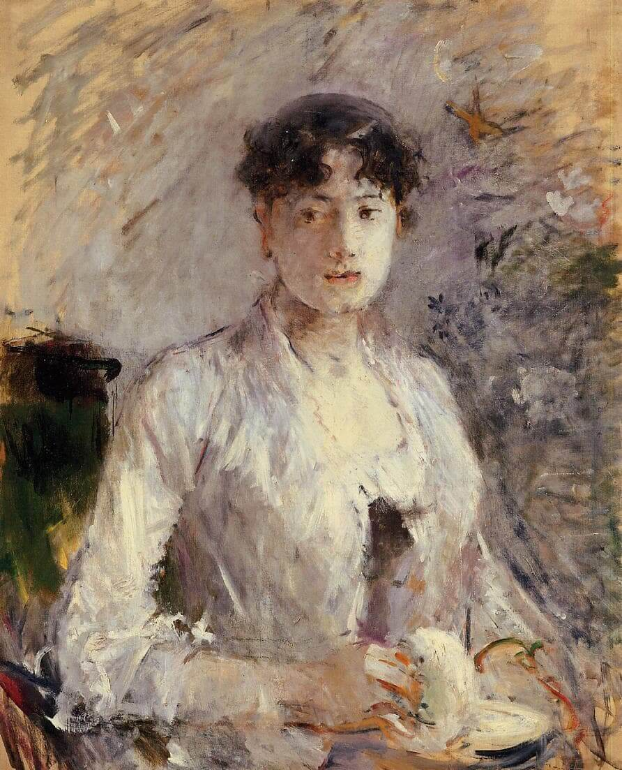 «Mujer joven en malva» de Berthe Morisot